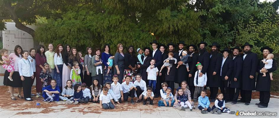 Some of the families who seek to bring Chassidic life and wisdom to a place tucked away in Israel's Southern Negev Desert, called Neve Chabad.