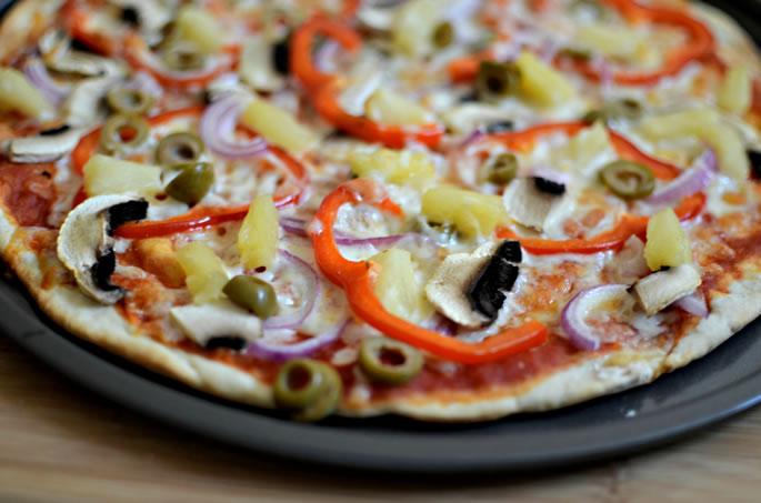 Thin Crust Vegetable Pizza Dairy Kosher Recipe
