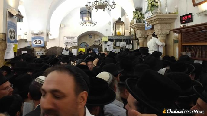 The Meron synagogue was more than packed throughout the night and day.