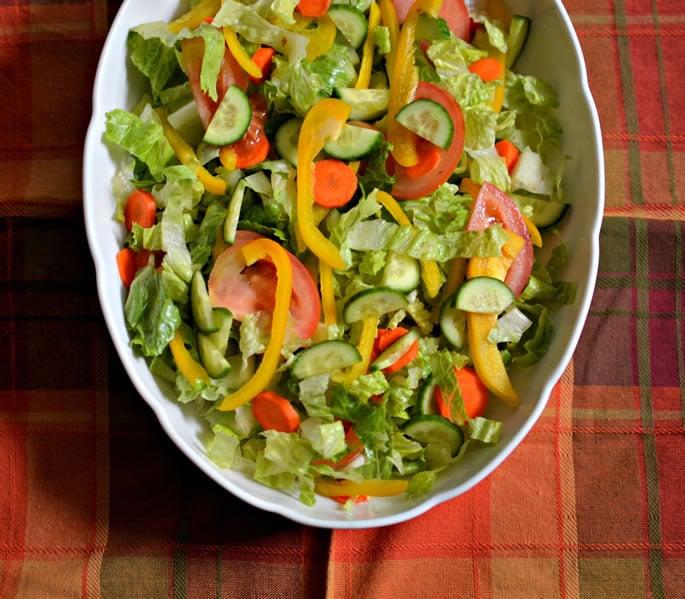 crunchy summer garden salad - Garden Salad Recipe