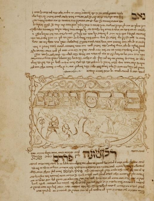 The handwritten title page to Pardes Rimonim (credit: Columbia.edu).