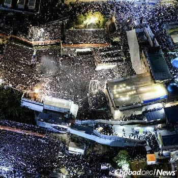 A drone's-eye-view of the festivities.