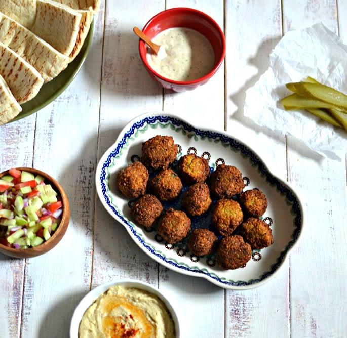 Crunchy Homemade Falafel with Hummus, Tahini, and Israeli ...