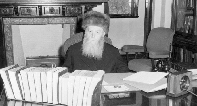 Le Rabbi précédent, Rabbi Yossef Its'hak Schneersohn, de mémoire bénie