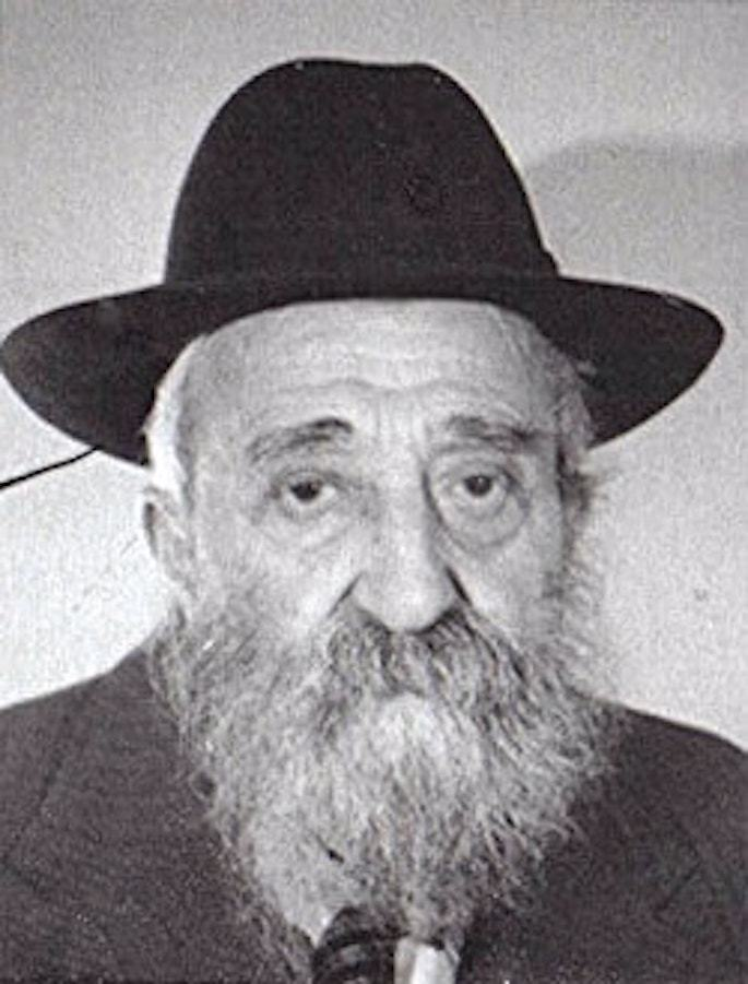 Avraham Godin in his later years.