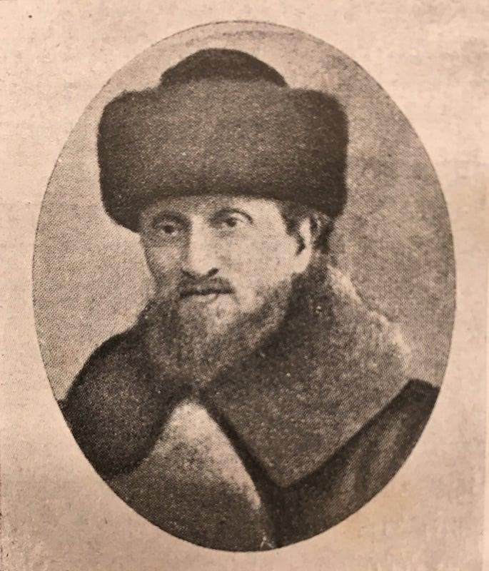 Rabbi Menachem Mendel Zak, chief rabbi of Riga until he was murdered by the Nazis. Photo: Yahadus BeLatvia Rabbonim.