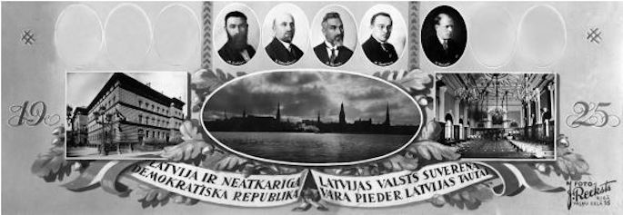 Jewish candidates for the Latvian Saeima from varied parties banded together to run as one bloc in 1925. Dubin can be seen on the far left.