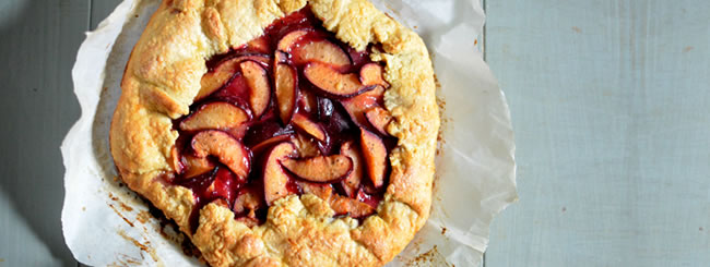 Compote & Fruit Desserts: Summer Bounty Plum Galette
