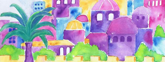 Jewish Art for the Soul: Art: Jerusalem Watercolor