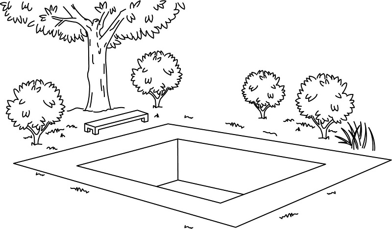Fig. 5: A pool without a border