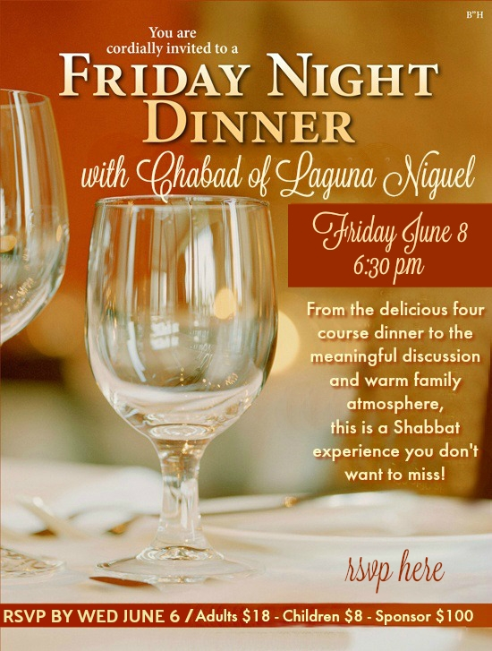 shabbat dinner click to rsvp