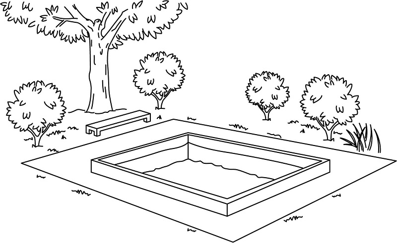 Fig. 6: A pool with a border