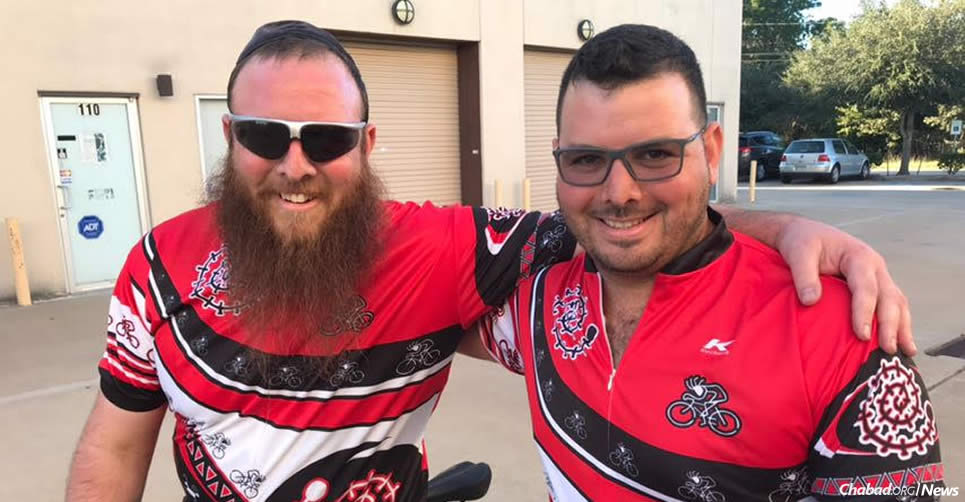 """Following a heart attack a year ago, Rabbi Nochum Kurinsky, left, started some serious cycling training, and has launched a """"One Heart, One Soul"""" cycling tour down Florida's Atlantic Coast with his brother, Zach."""