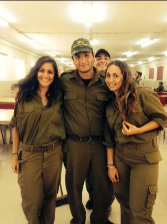 Soldiers at Kibbutz Sa'ad