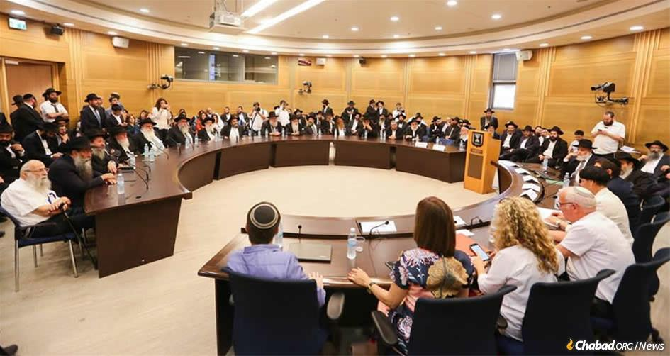 Members of the Knesset and other high-ranking Israeli officials met in a special session to focus on the legacy of the Rebbe—Rabbi Menachem M. Schneerson, of righteous memory. (Photo: Chabad of Israel)