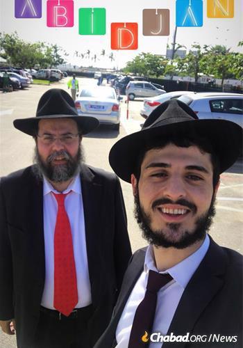 Rabbi Shlomo Bentolila, left, and Rabbi Yerah Bensaid