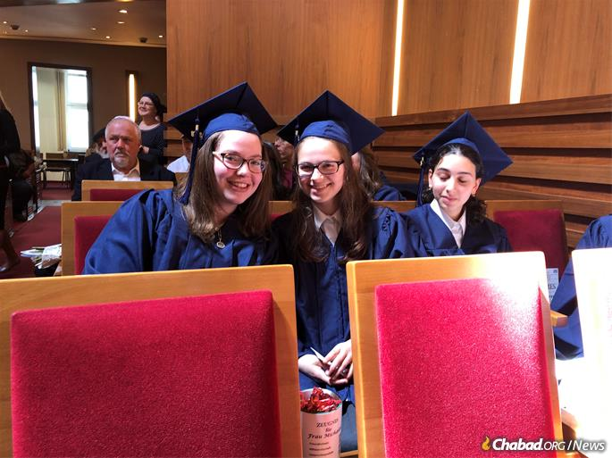 Honors students at the school's graduation ceremony