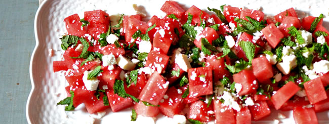 Recipe: Ultimate Summer Salad: Watermelon, Feta & Mint
