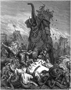 ''The Death of Elazar'' by Gustave Dore