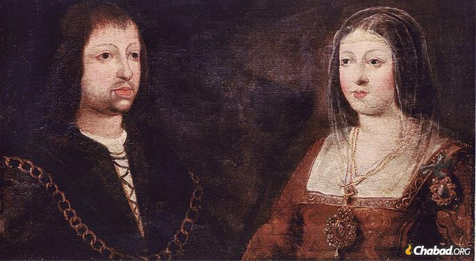 Ferdinand and Isabella expelled practicing Jews from Spain, forcing those who remained to worship in secret. The Spanish exiles formed a Sephardic diaspora that stretched from London to Aleppo.