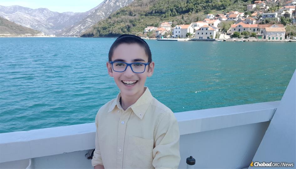 Menachem Mendel Edelkopf is looking forward to his bar mitzvah in the Balkan nation of Montenegro on Sept. 6.
