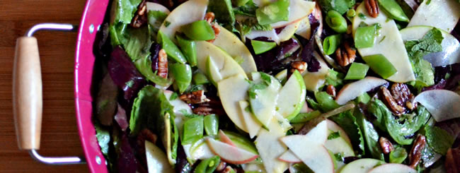Recipe: Apple-Mint Salad with Lime Vinaigrette