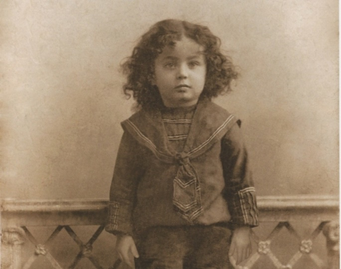 The Seventh Lubavitcher Rebbe, Rabbi Menachem Mendel, pictured here before his third birthday