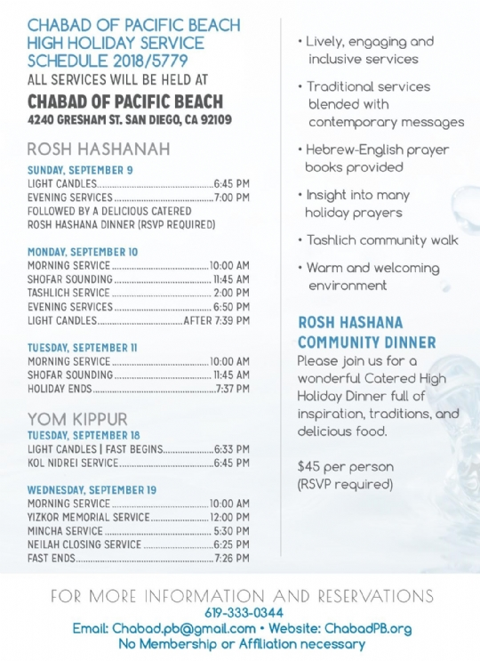 graphic relating to Printable Tashlich Prayer known as Plan of Expert services - Chabad of Pacific Seaside