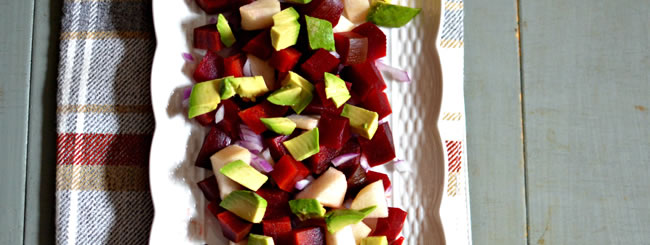 Beet Salads: Beet Salad with Avocado & Asian Pear