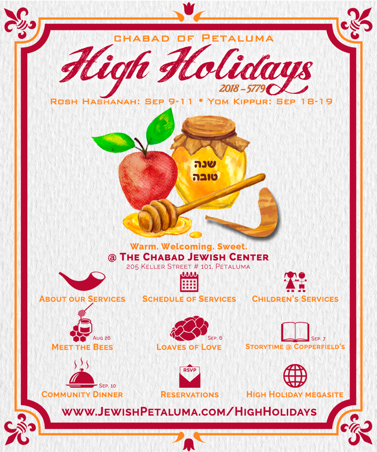 High Holidays 2018 - Chabad Jewish Center of Petaluma