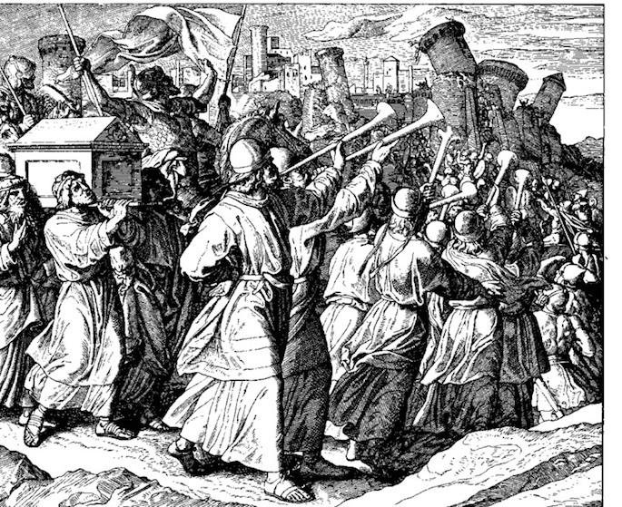 Rahab was saved from the battle of Jericho (Julius Schnoor von Carolsfeld, 1794-1872).