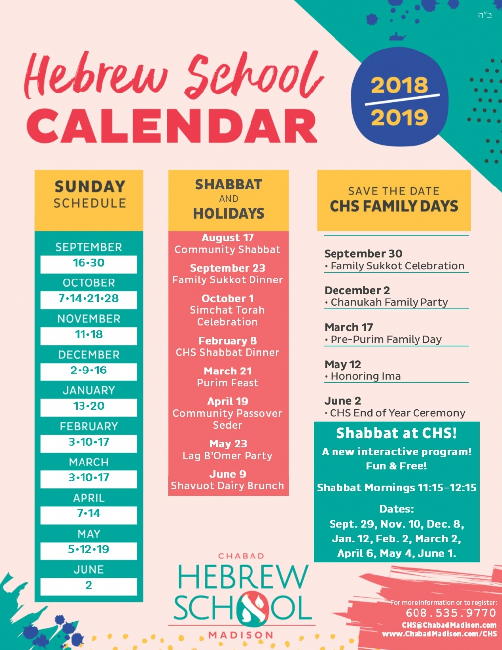 Calendar - Chabad of Madison