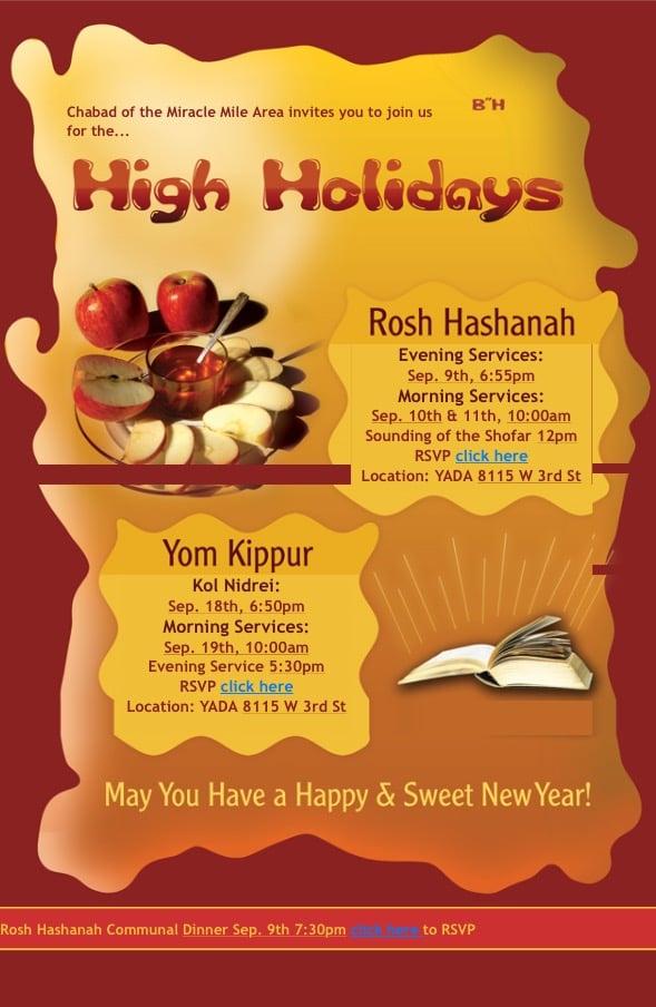 high holiday service
