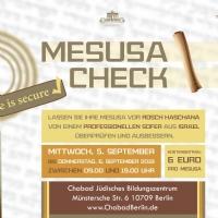 Mesusa Check - 5. und 6. September