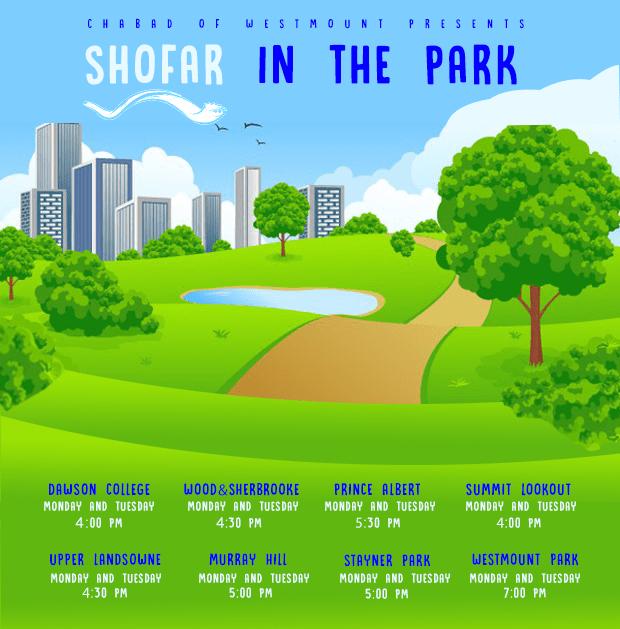 Shofar Schedule