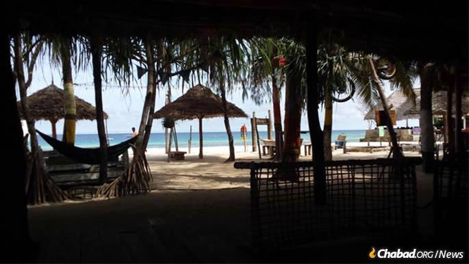 Chabad is located in the coastal resort town of Nungwi.