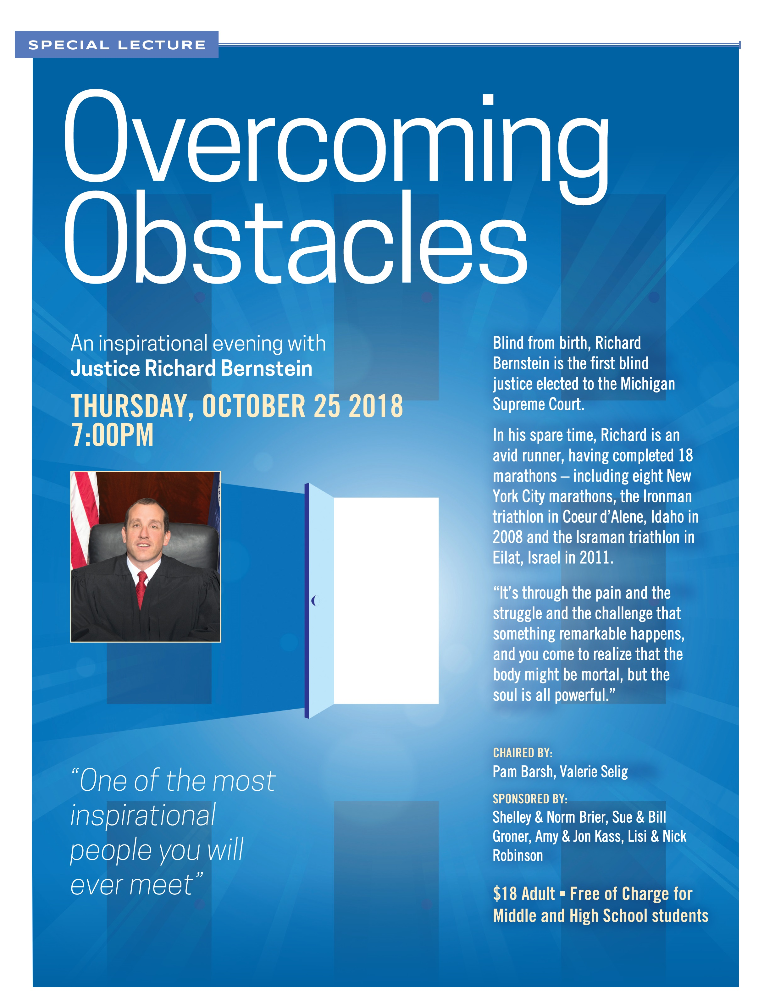 Overcoming Obstacles with Justice Bernstein - Chabad of Bedford
