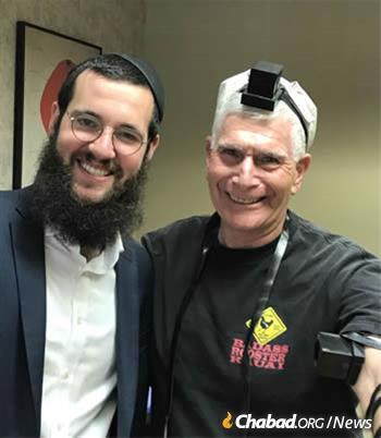 Rabbi Wolf with Alan Lerner