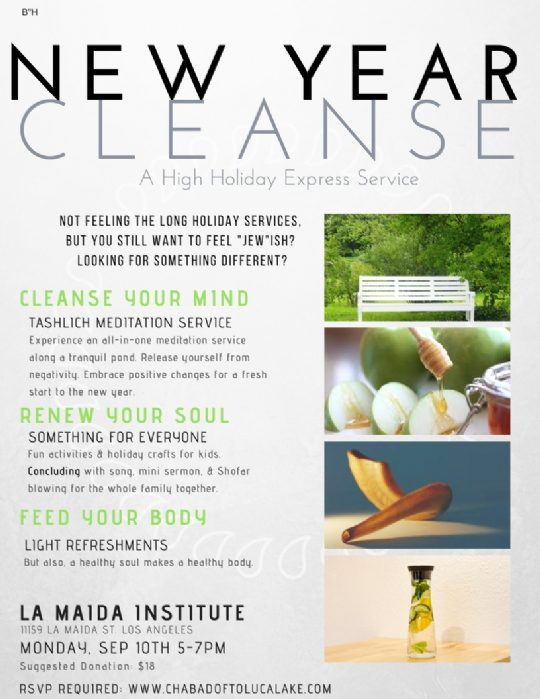 New Year Cleanse & Family Express service - Chabad of Toluca Lake