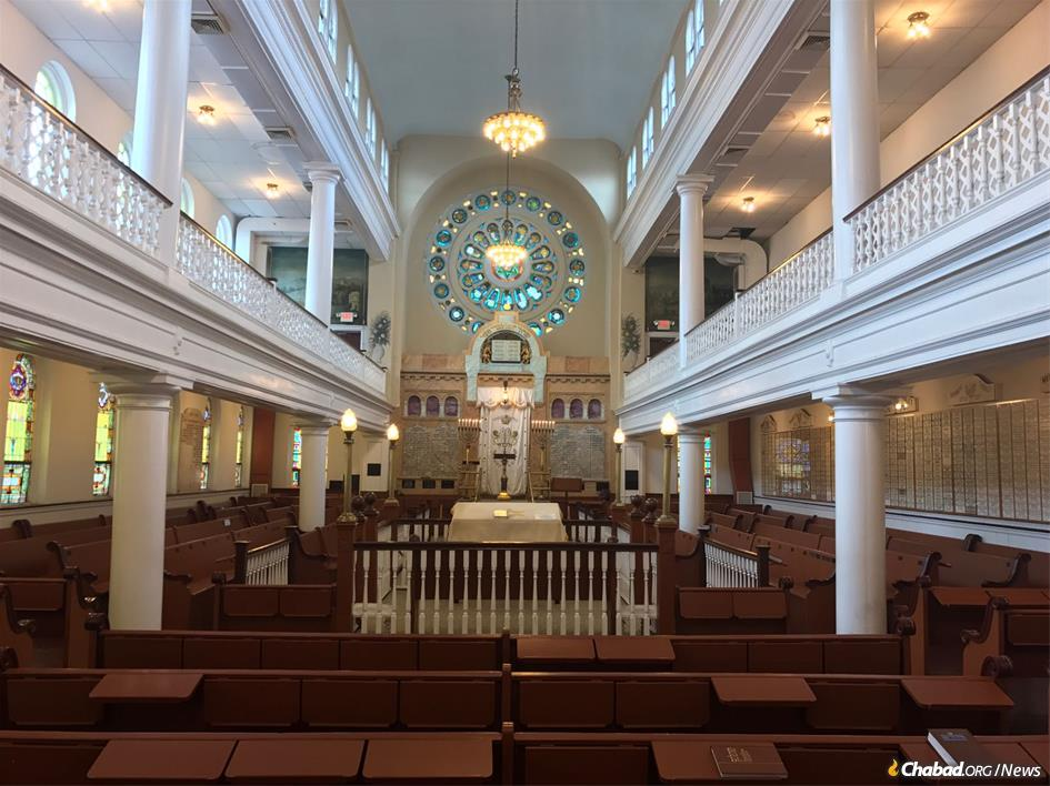 The sanctuary of the historic B'nai Abraham synagogue in central Philadelphia. It will again open its doors to worshippers free of charge for the High Holidays this year. To be sure, donations are recommeded for those who can afford it, but like thousands of Chabad synagogues, no one is turned away for financial reasons. It is a model that has been emulated by other Jewish houses of worship around the world.