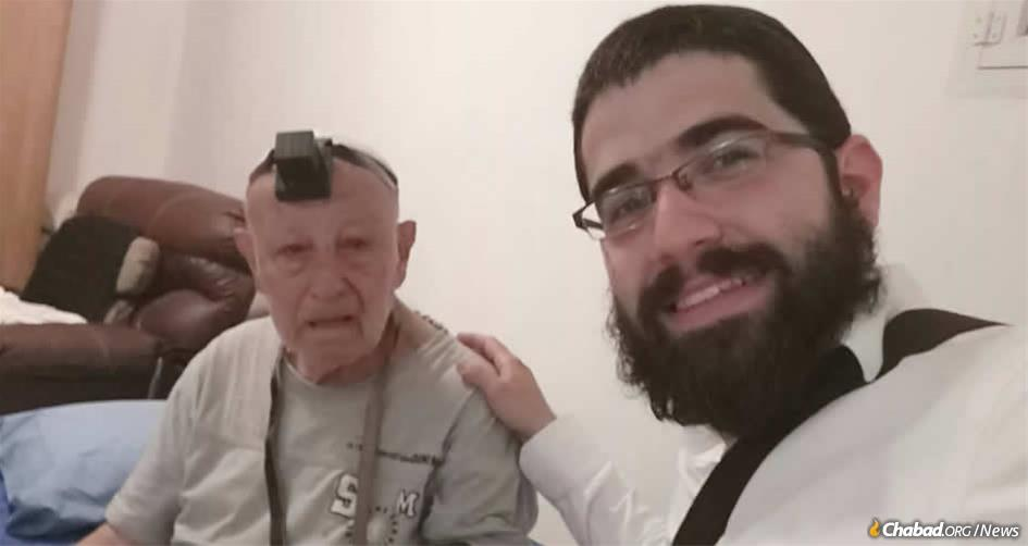 "Rabbi Dovid Chaim Hilel Chemama responded to a message that Louis Fitoussi, 87, a recent immigrant to Israel from France, needed help. ""I came to Israel two years ago to be with my two sisters,"" explained Fitoussi, ""but they both passed away one after another, and here I am alone, with no one in the world to care for me."""
