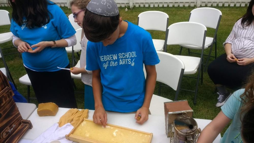 Hebrew School First Day & Beekeeper Demo
