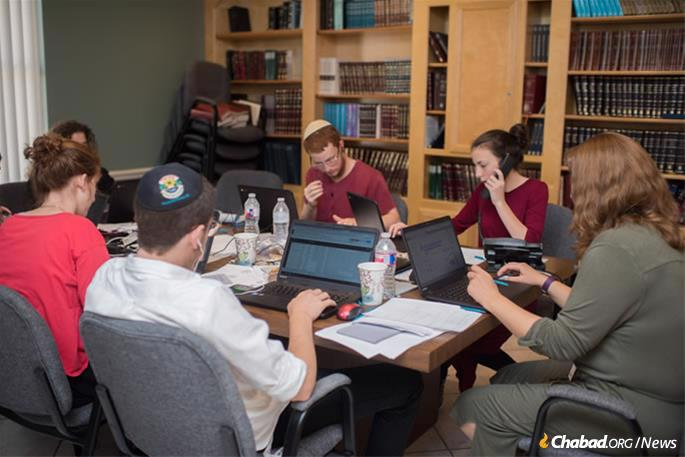 During and after the storm, volunteers worked the phones to help those in need.