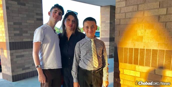 Right after the hurricane, Cypress resident Biana Godin set out to help others. She and her sons say they are glad to have Chabad in town full-time.