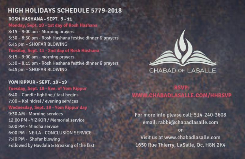 Chabad Org High Holiday Inspiration: High Holidays 2018