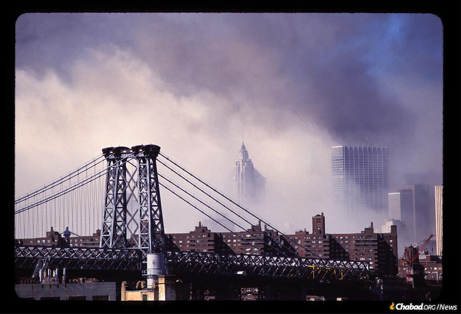 Lower Manhattan after the terrorist attacks of Sept. 11, 2001 (Photo: Barry Goldstein)