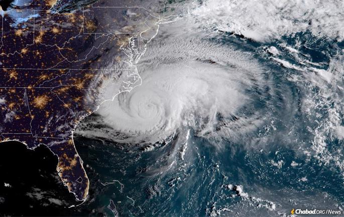 Hurricane Florence approaching the East Coast; it's expected to make landfall near Myrtle Beach, S.C. (Photo: NOAA/NASA)