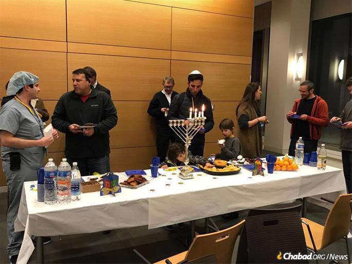 The Chanukah party the Fogelmans arranged shortly after settling in at the med school.