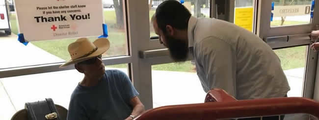 September 2018: With 14 Dead and Florence Flood Waters Still Rising, Chabad Marshals Resources