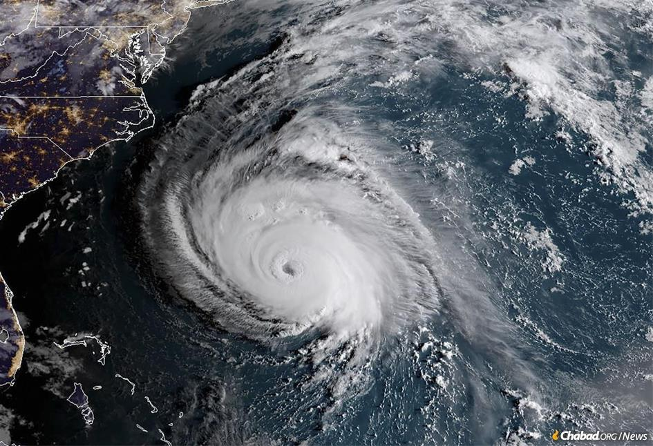 Hurricane Florence bears down on the East Coast. (Photo: NOAA/NASA)